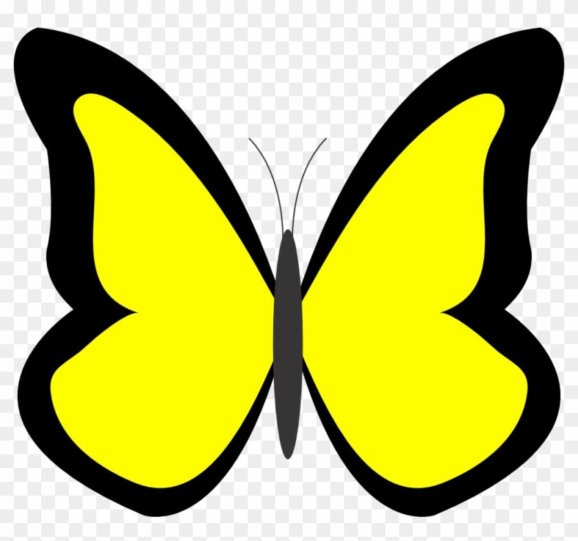 Yellow Butterfly Clipart - Butterfly Clip Art Yellow #67903