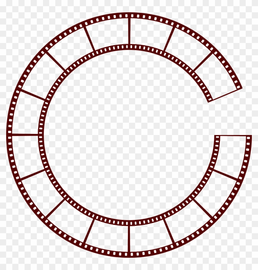 File - Filmstrip-circle - Svg - Film Strip Circle #67942