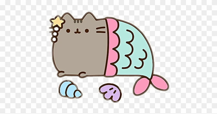 pusheencat pusheen cute kawaii stickersalma mermaid pusheen cat