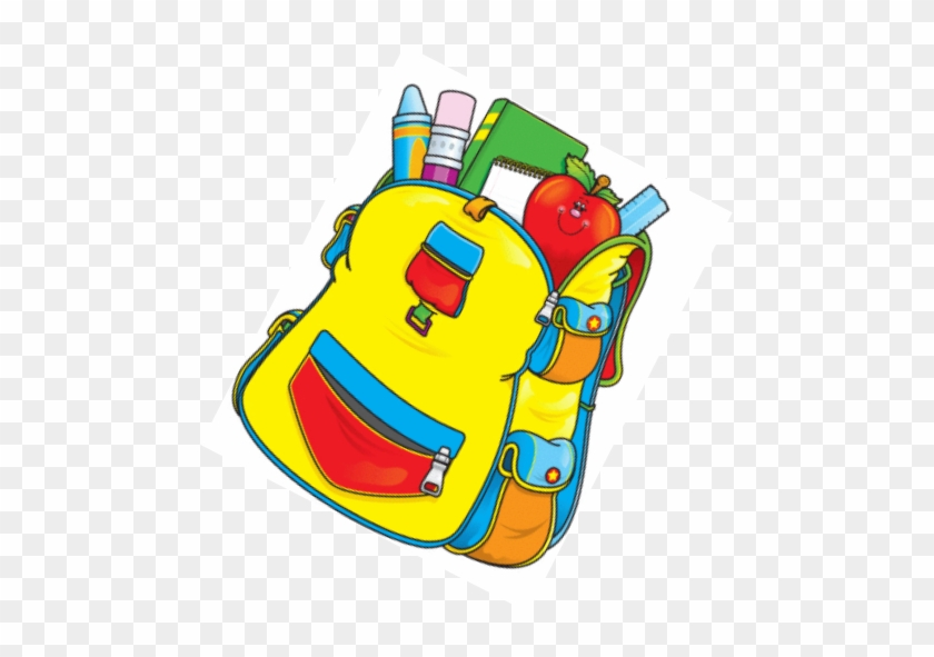Back To School Supplies For The Living Room - Backpack With School Supplies Clipart #386190