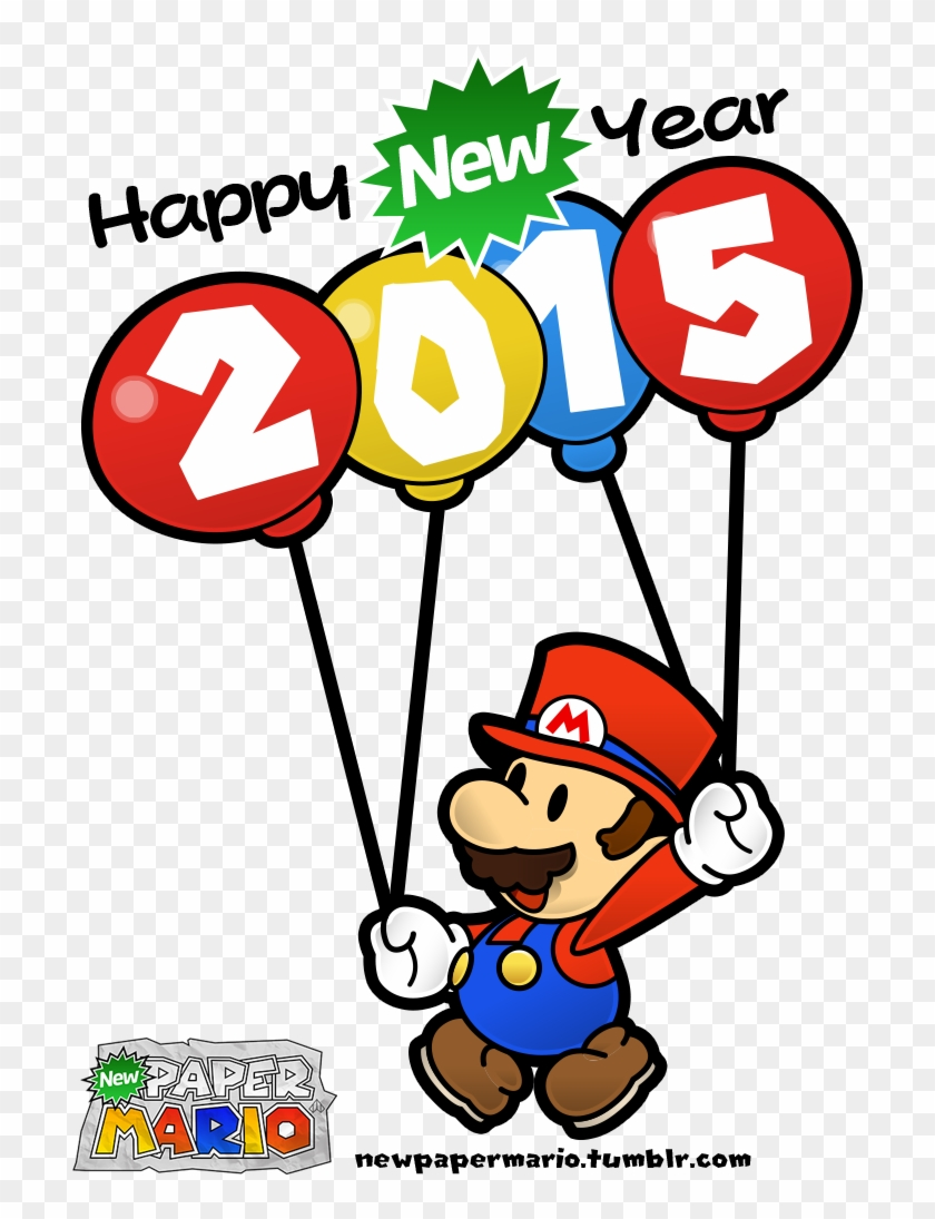 Happy New Year 2015 From New Paper Mario - Paper Mario #386378
