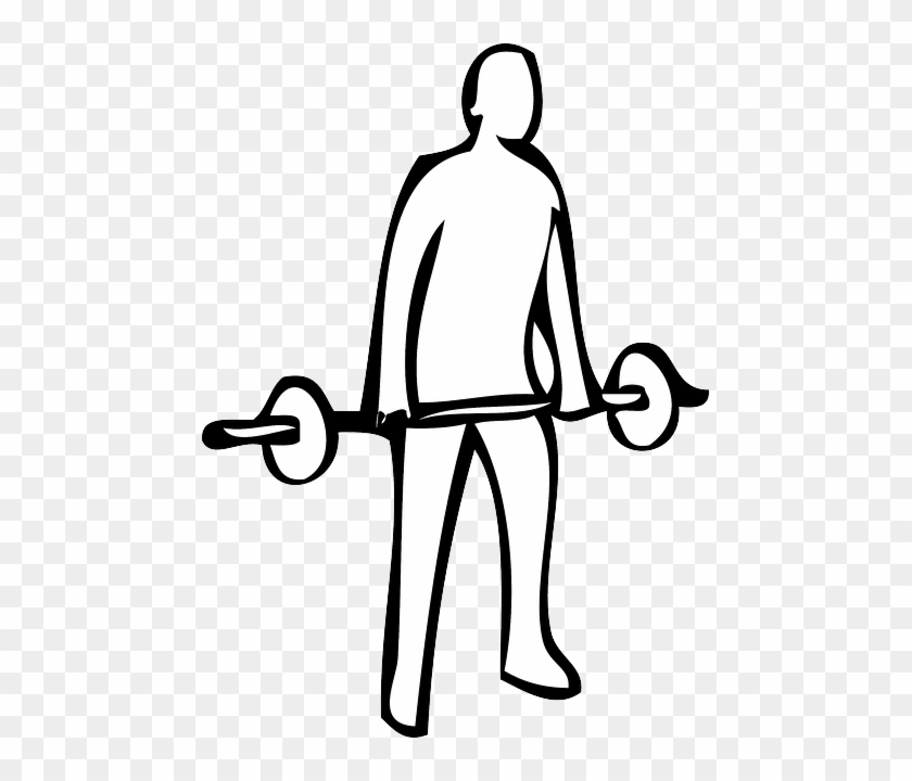 Outline Of A Person - Weight Lifting Drawing #386446