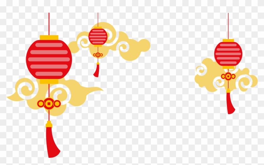 China Paper Lantern Euclidean Vector - Chinese Lanterns Transparent Background #386470