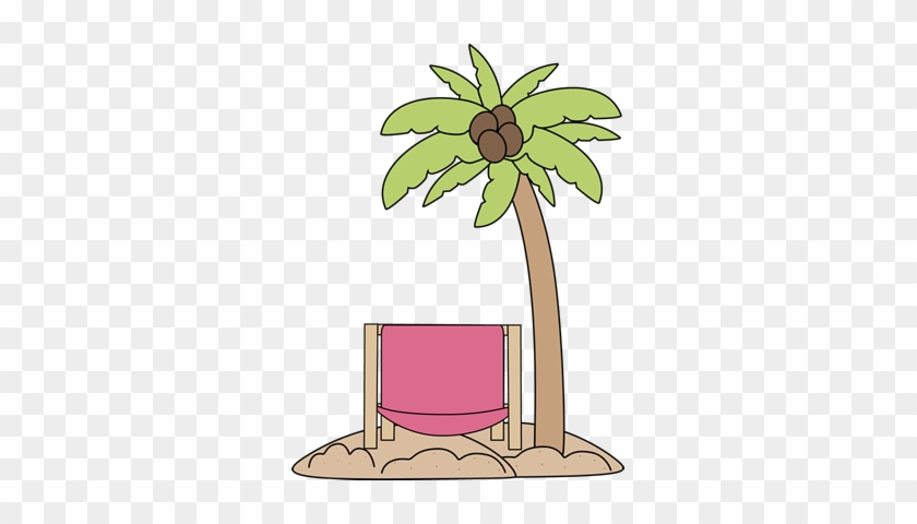 Palm Tree Clipart Beach Chair - Clipart Beach Palm Tree #386551