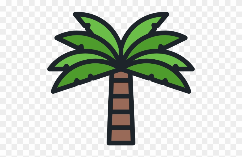 Simple Palm Tree Free Icon With Palm Tree Top View - Palm Tree Icon Png #386638