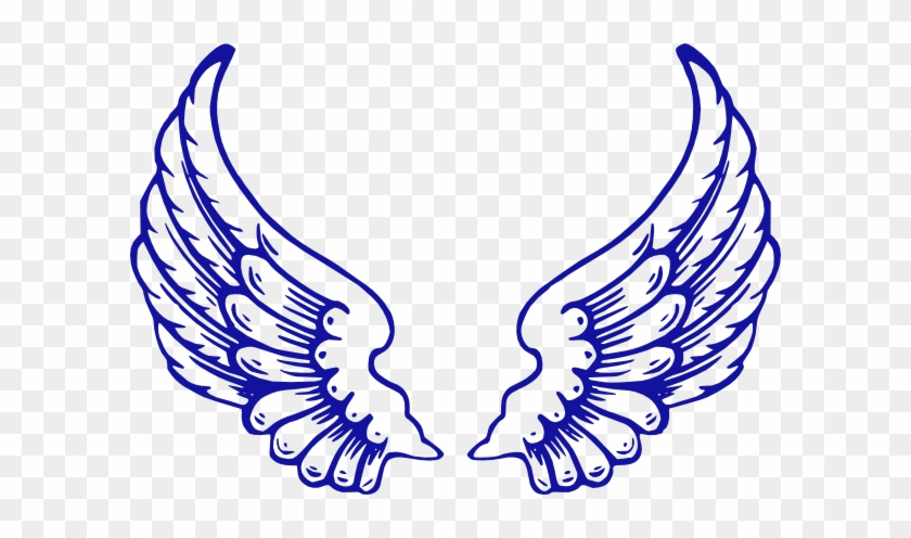 Running Wings Clip Art - Angel Wings And Halo #386788