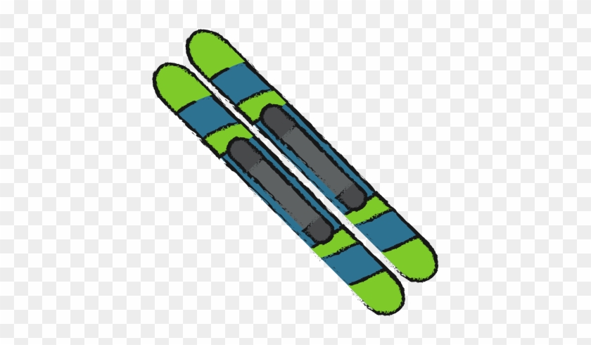 Skis Of Winter Sport Design - Winter Sport #386808