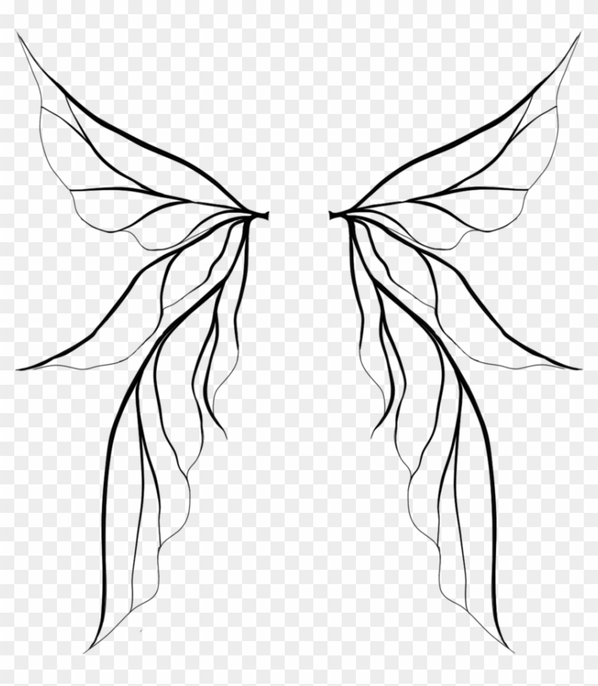 Fairy Wings White - Fairy Wings Drawing Png #387094