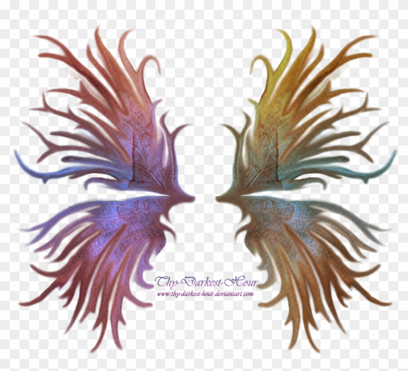 Frilled Fairy Wings 01 By Thy Darkest Hour - Darkest Hour Fairy Wings Png #387218