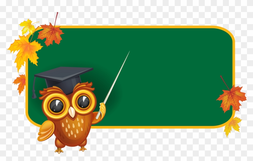 Owl With School Board Png Clipart Image Png M 1440212101 - School Board Clipart #387385
