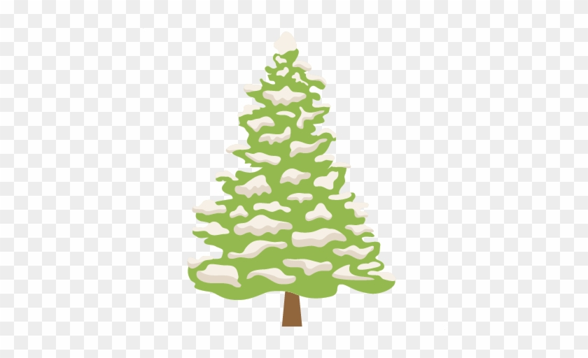 Snowy Tree Svg Scrapbook Cut File Cute Clipart Files - Snowy Tree Sticker Transparent Background #387602