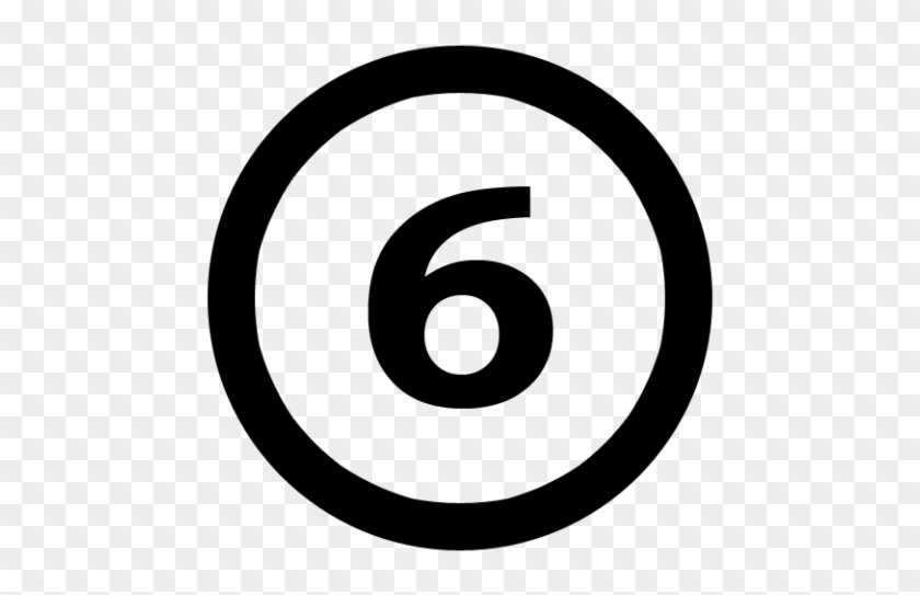 People With The Lucky Number 6 Are Sentimental - Copyright Symbol Svg #387982