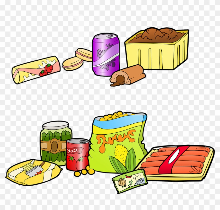 Junk Food Cartoon - Processed Food Cartoon #387998