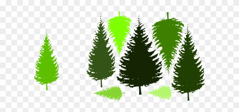 Pine Tree Grouping By Jc Clip Art At Clker - Pine Tree Silhouette #388002