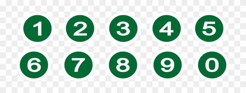 Free Clip Art Numbers - Number In Circle Symbol #388299