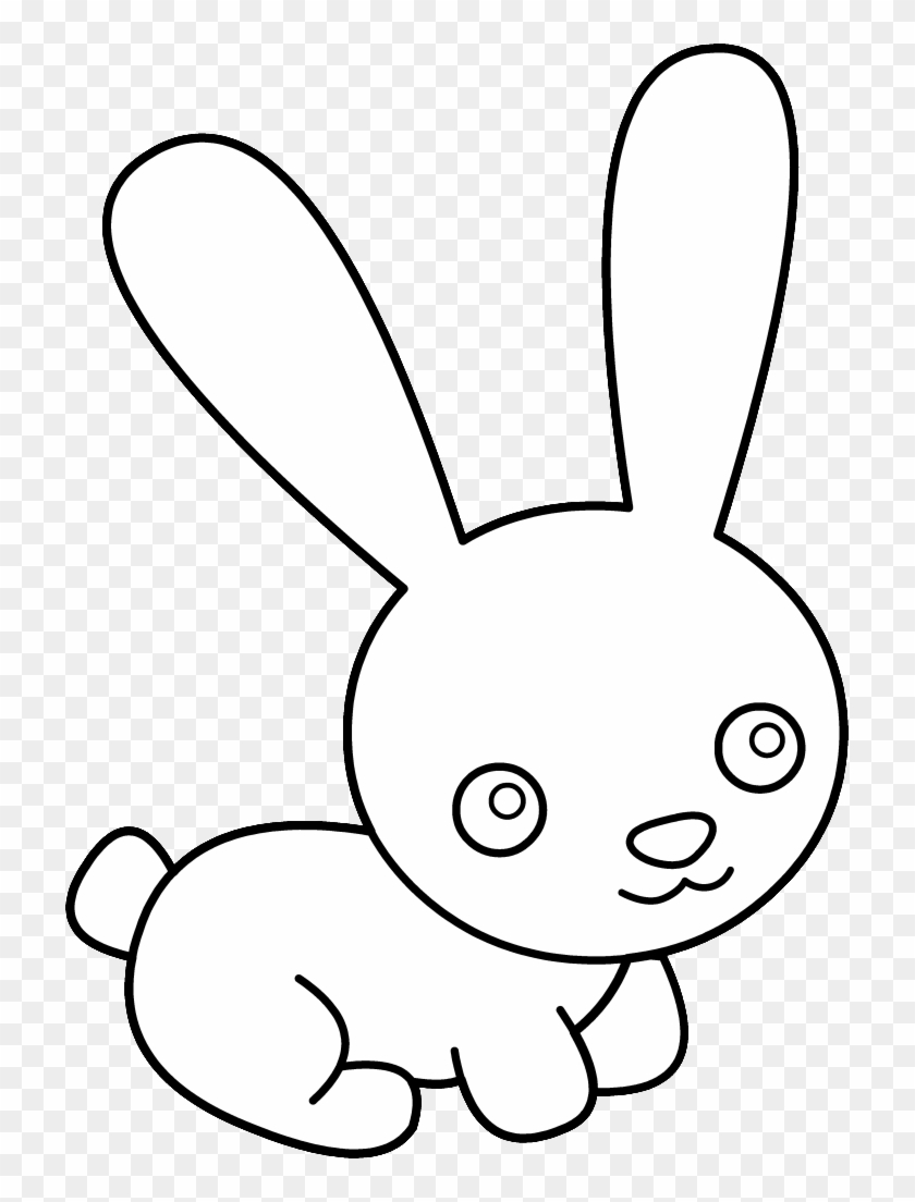 Bunny Black And White Bunny Rabbit Clipart Black And ...