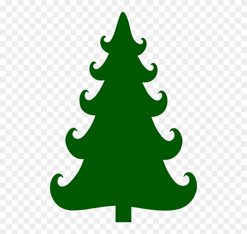this cute christmas tree silhouette