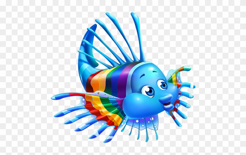I Asked My Rainbow Fish Finfriend - Fin Fun Ranbow Reef Mermaid Tail #388675