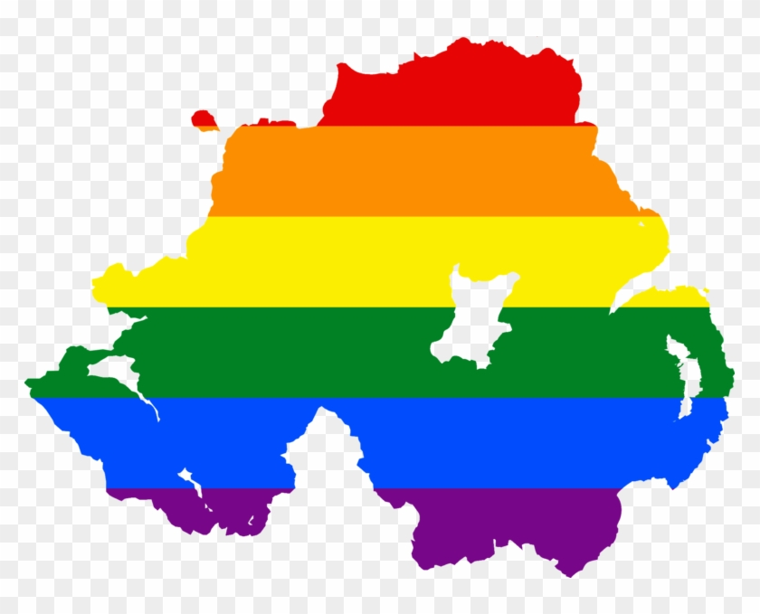 Lgbt Flag Map Of Northern Ireland Cc By-sa - Marriage Equality ...