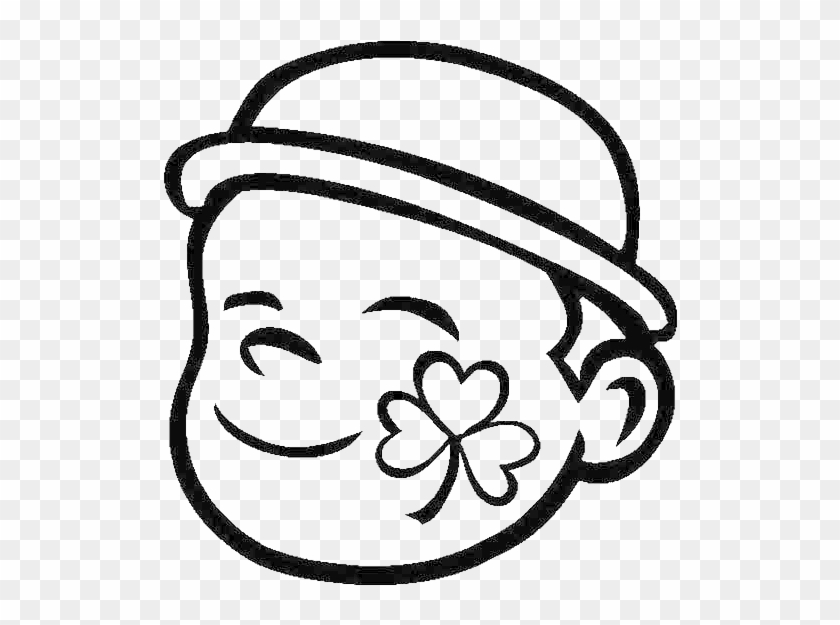 A Four Leaf Clover Face Paint Coloring Page - Face Painting Coloring Pages #389071