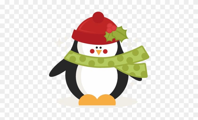 Cute Christmas Penguin Clipart - Christmas Penguin Clip Art #389369