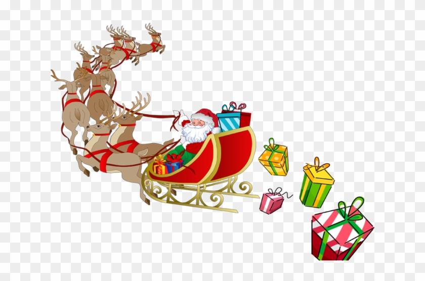En Vous Pouvez Les Prendre Et Les Télécharger - Santa And His Sleigh Clipart #389630