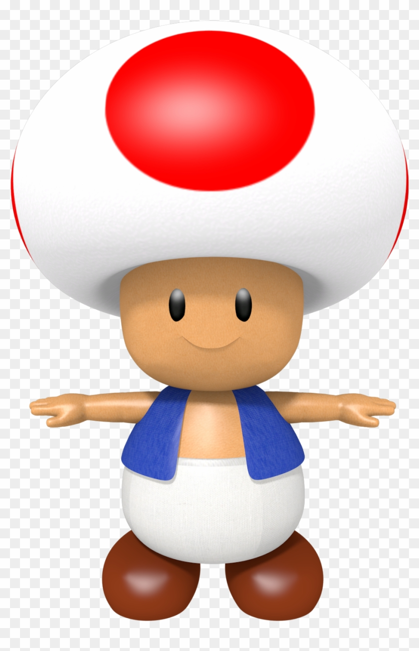 N64 Classic Toad Mario Characters T Pose Free Transparent Png