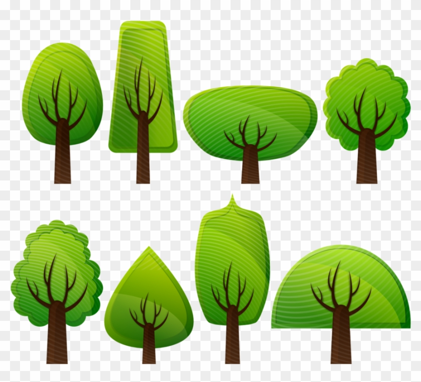 Free Photo Forest Deciduous Trees Trees Broad Leafed - Simple Tree Vector Png #390023
