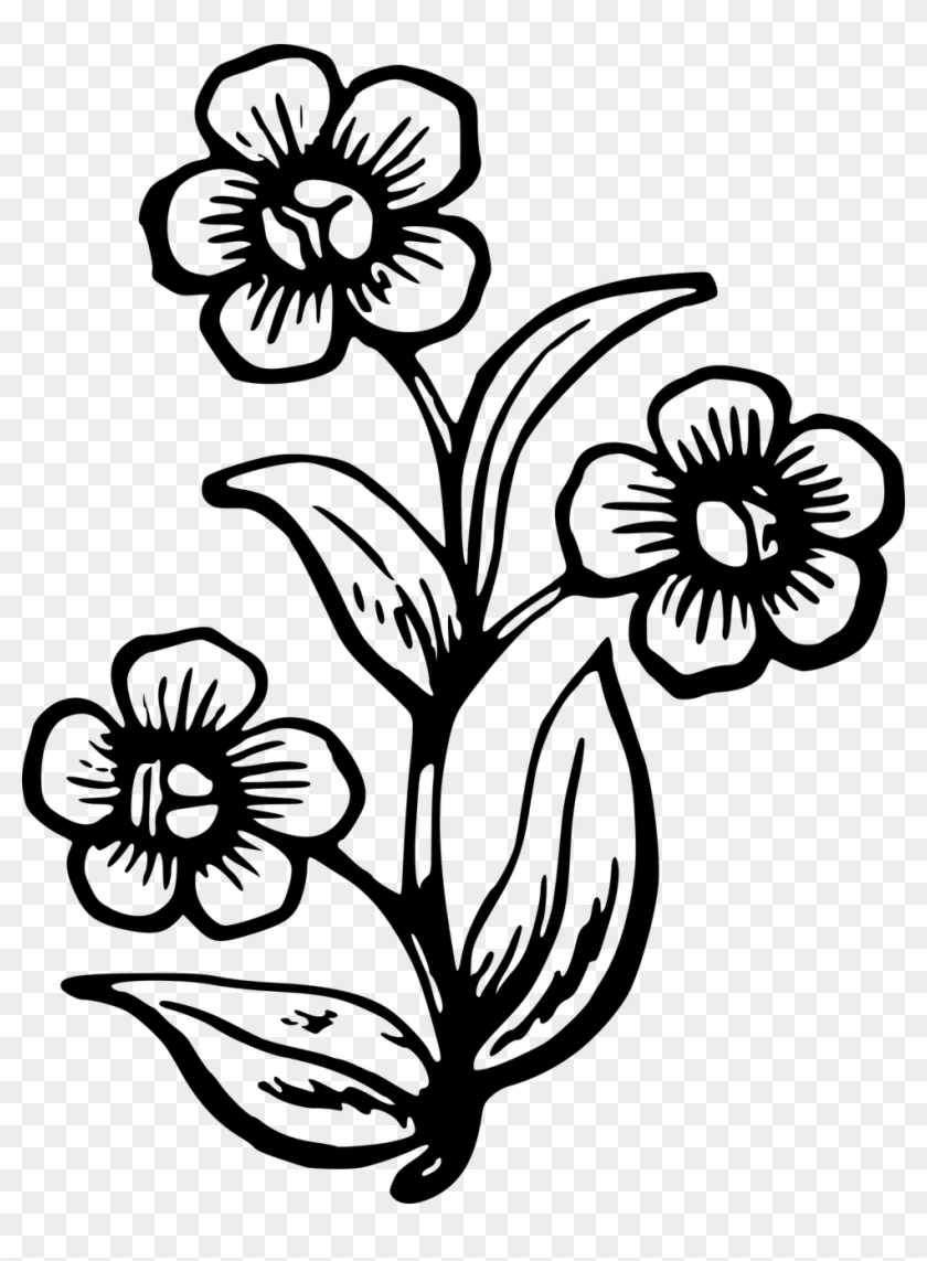 Applique Spring Flowers Big Pretty Flower Drawing Free