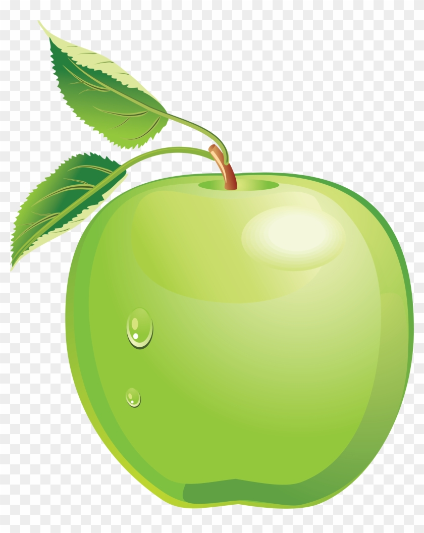 Green Apple Clip Art - Green Apple Clipart Png #390371