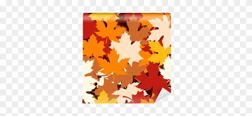 Seamless Pattern With Autumn Maple Leaves - Maple Leaf #390385