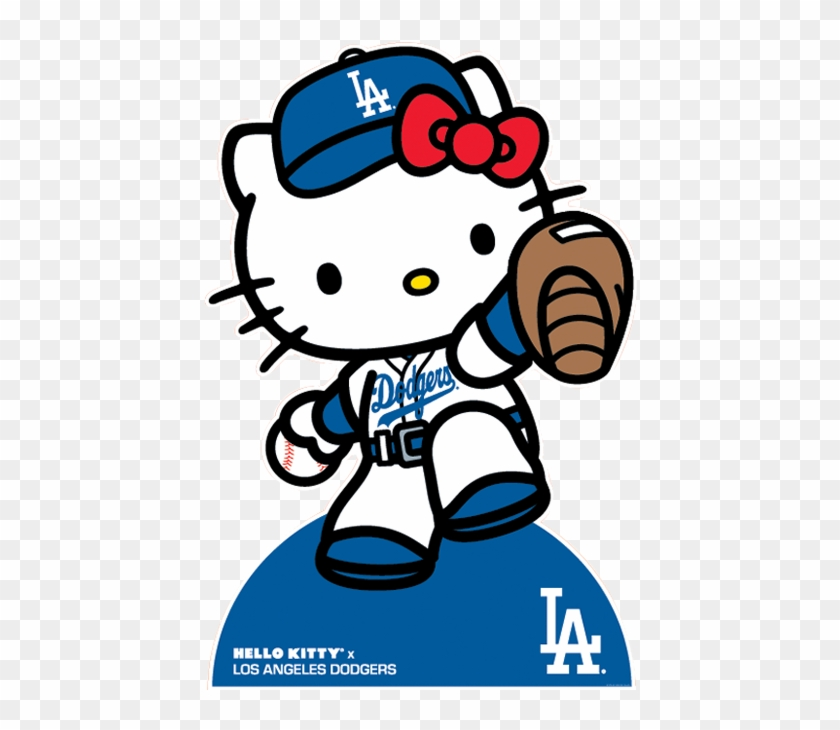 Hello Kitty Dodgers Hello Kitty Free Transparent Png Clipart Images Download