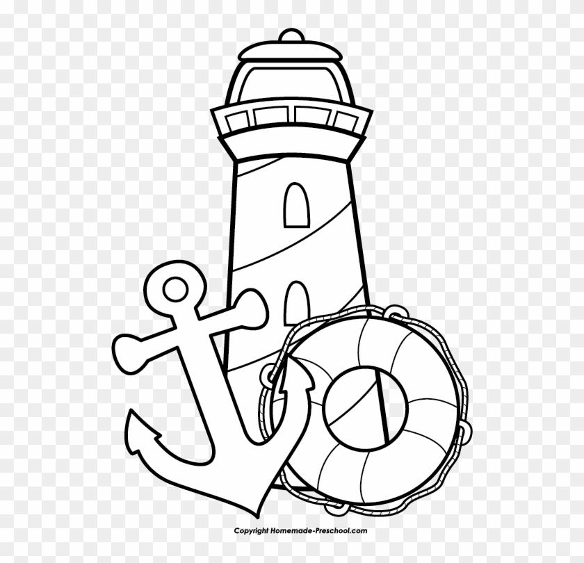 Brilliant Anchor Clip Art Black And White Lighthouse Free Lighthouse Interior Design Ideas Pimpapslepicentreinfo