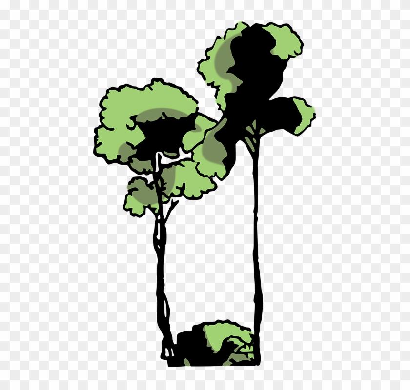 Jungle Trees Clipart 4, Buy Clip Art - Arbol De Selva Png #390536