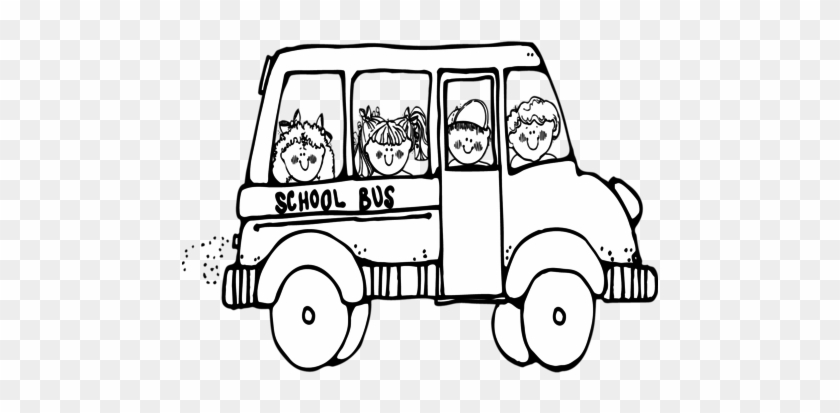 Coloring Trend Medium Size Large School Bus Template - School Bus Clipart Black And White #390890