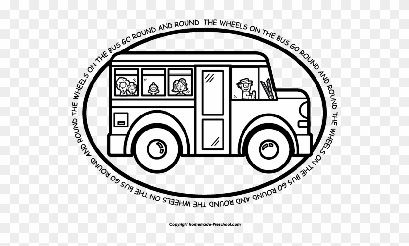 Wheels On The Bus Coloring Pages