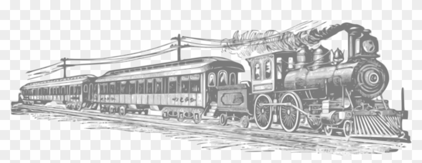 School Bus Border Black And White Download - Steam Trains Clipart #390936