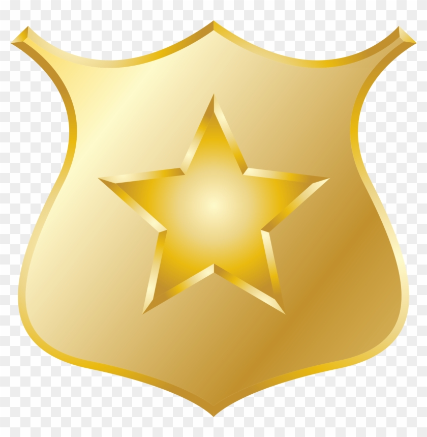 Clipart Gold Police Badge - Police Badge Clipart Png #390943