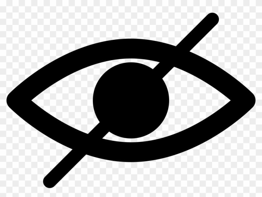 Hide, Blind, Eye, Opened, Essentials, Diagonal, Line, - Blind Man Symbol #390974