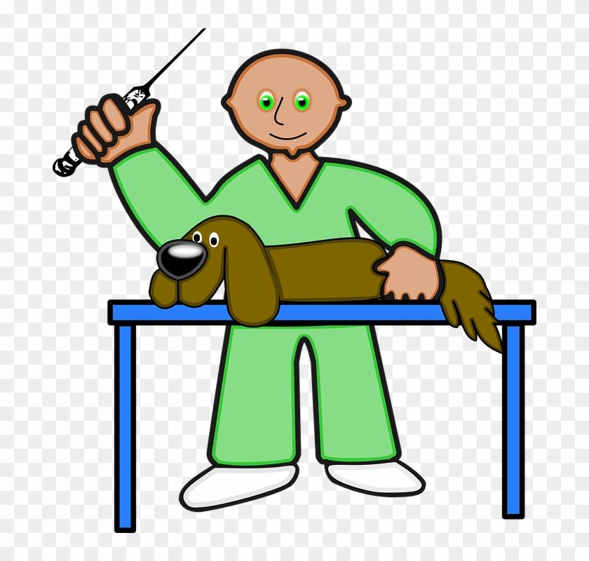 Cartoon Ill Person 11, Buy Clip Art - Veterinary I Love Pet Dog Funny T Shirt Tees #391044