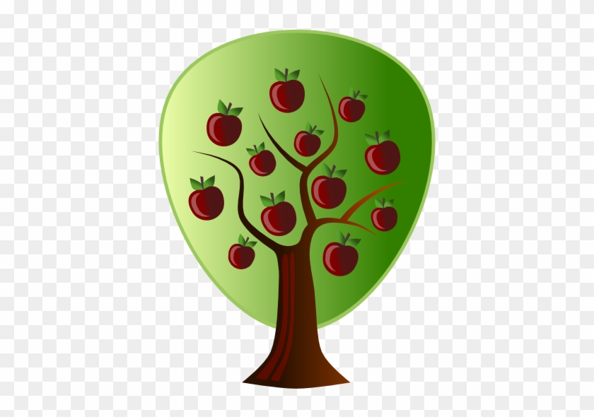 Abstract Crops Apple Tree Clipartsy - Apple Tree Vector Png #391341