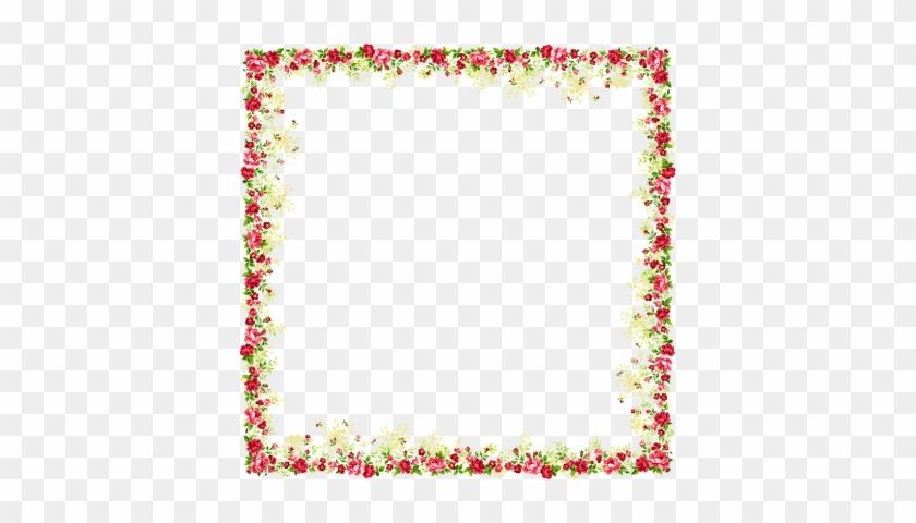 Flower And Butterfly Border Design Images Png Images - Flower Frame Png #391349