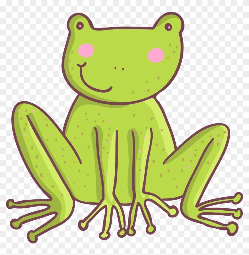 Five Little Speckled Frogs Clip Art - Cute Cartoon Animals #391487