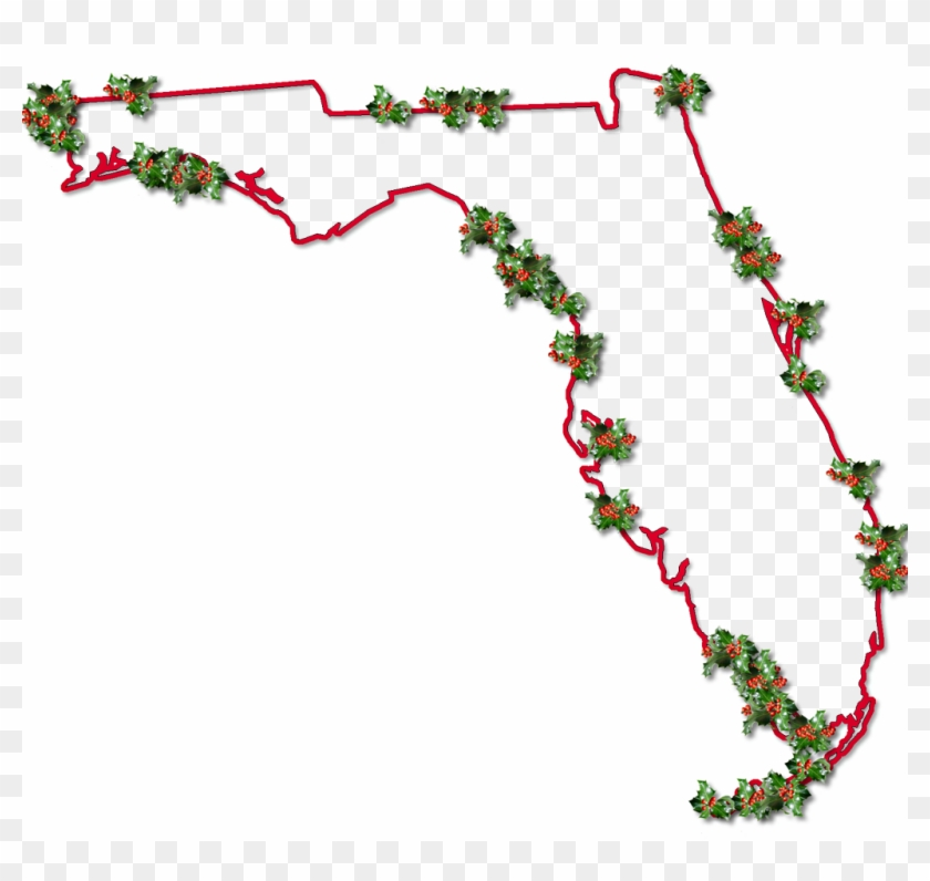 Inner Drop Shadow, And Randomly Placed Holly Leaves - Christmas Clipart Florida #391508