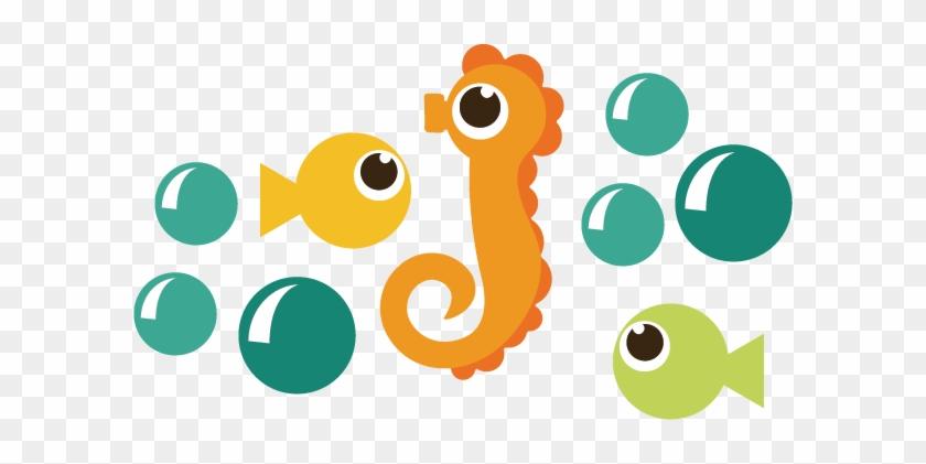 Ocrean Svg - Cute Seahorse Png #391575