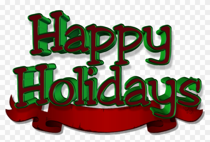 Share This Image - Happy Holidays Red And Green #391725