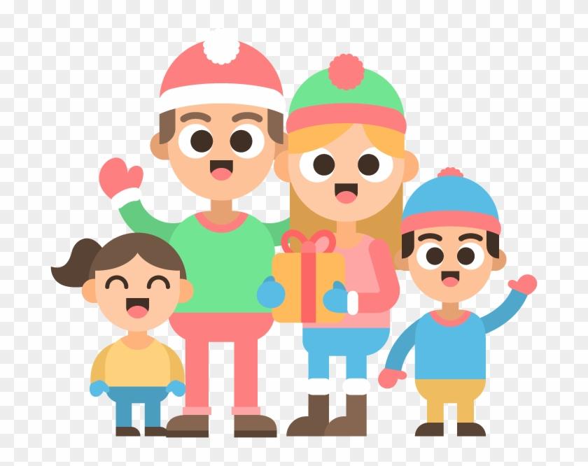 Christmas Family Clip Art - Christmas Day #391776