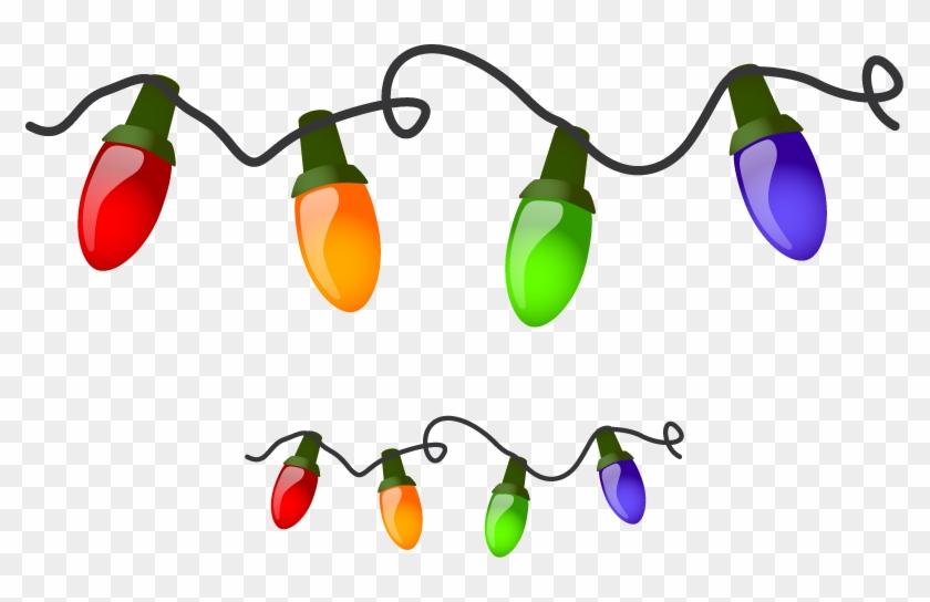 Christmas Lights Border Clipart - Christmas Lights On A String ...