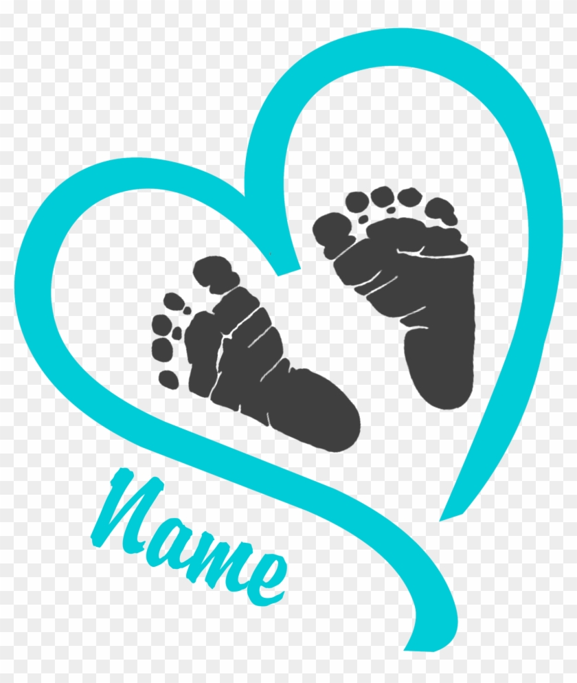 Baby Feet Clipart Line Cliparts And Others Art Inspiration - Heart With Baby Footprints #391921