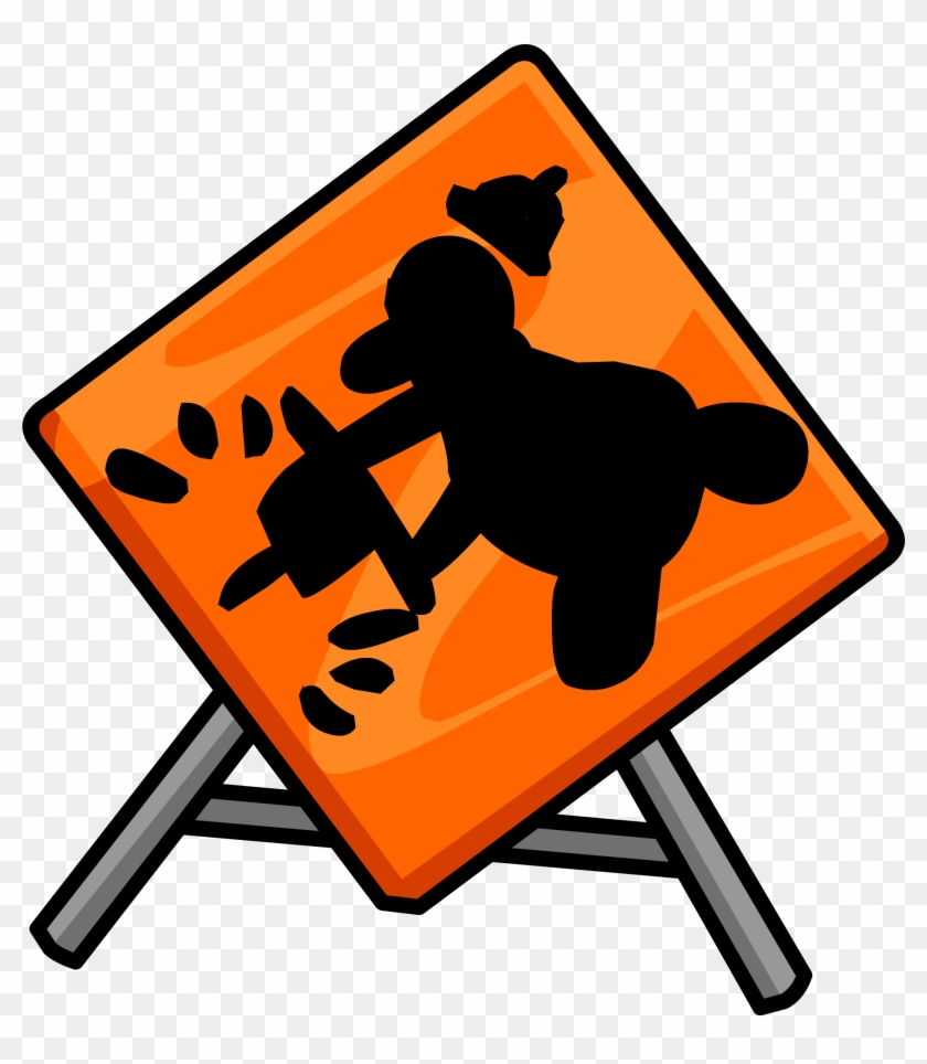 Construction Sign - Png - Club Penguin Under Construction #391955